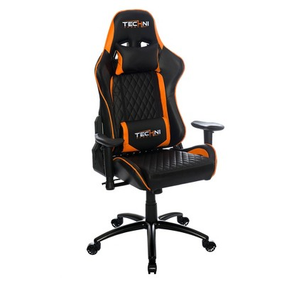Ts-5000 Ergonomic High Back Computer Racing Gaming Chair - Orange - Techini Sport