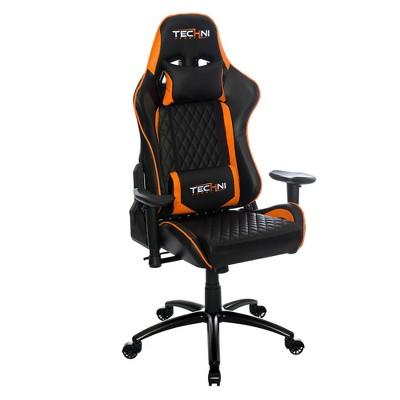 Ts 5000 Ergonomic High Back Computer Racing Gaming Chair   Orange   Techini  Sport