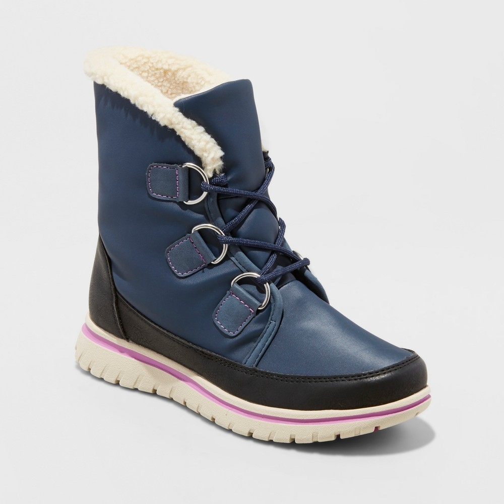 Womens Marika Winter Boots - Merona Navy (Blue) 8