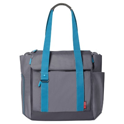 Skip Hop FIT All-Access Diaper Tote - Graphite/Aqua