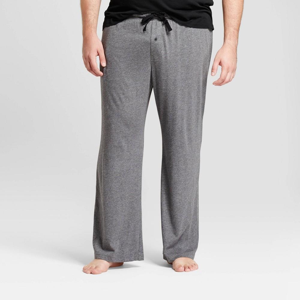 Mens Big & Tall Knit Pajama Pants - Goodfellow & Co Dark Gray LT