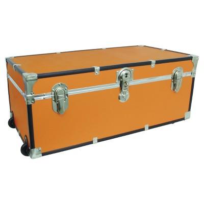 Mercury Collegiate Footlocker Storage Trunk With Wheels   30in