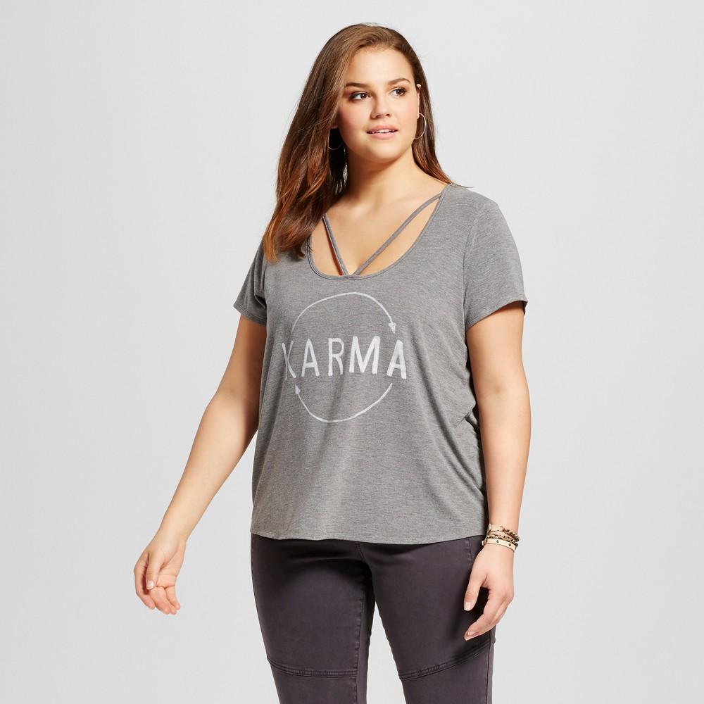 Womens Plus Size Karma T-Shirt - Grayson Threads - Gray 2X