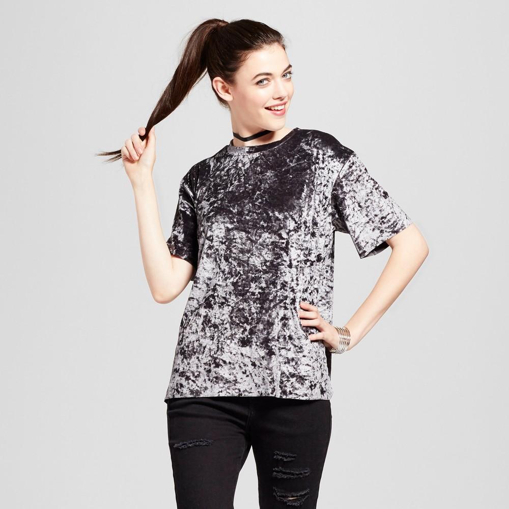 Womens Satin T-Shirt - Xhilaration (Juniors) Plum (Purple) XS