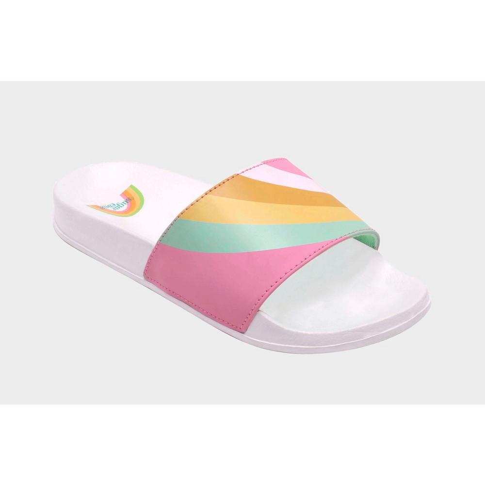 Womens Sugar Coast by Lolli Rainbow Slide Sandals - 6, Multicolored