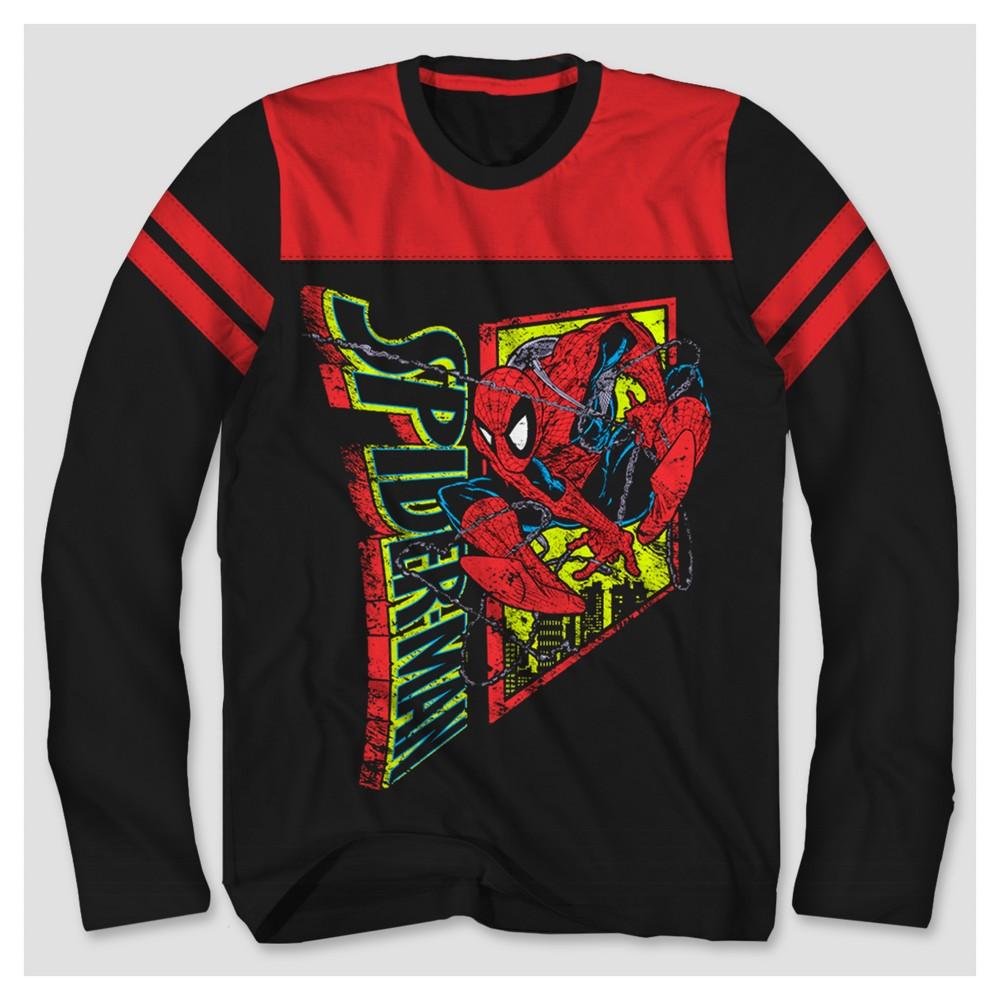 Boys Spider-Man Long Sleeve T-Shirt - Black/Red L