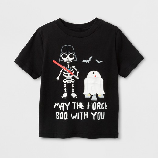 Star Wars Toddler Boys' Darth Vadar and R2-D2 'MAY THE FORCE BOO ...
