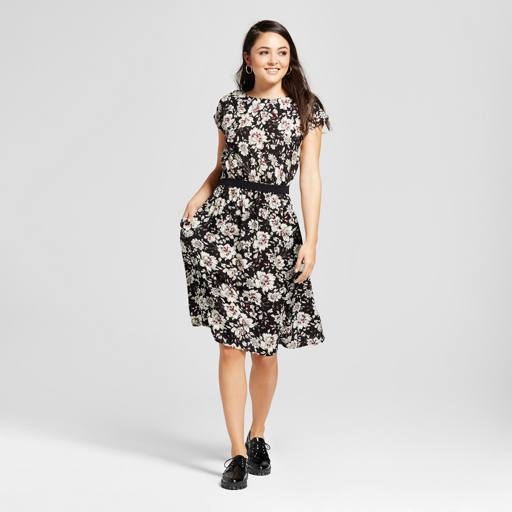 Womens Printed Dress - K by Kersh Black S