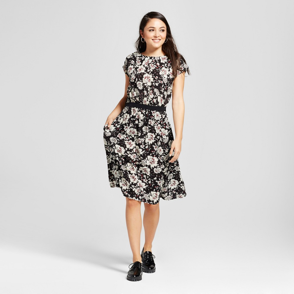 Womens Printed Dress - K by Kersh Black L