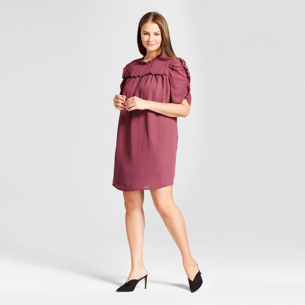 Womens Plus Size Drapey Doll Dress - Who What Wear Purple 4X