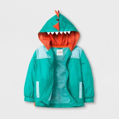 Toddler Boys' Dinosaur Spike Windbreaker Jacket Cat & Jack™- Green 18M
