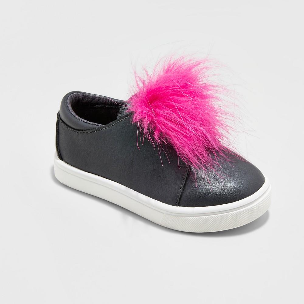 Toddler Girls Vella Low Top Sneakers Cat & Jack Black 5