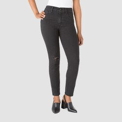 DENIZEN® from Levi's® Women's (Juniors') High Rise Straight Leg Mom Jeans - Black Wash