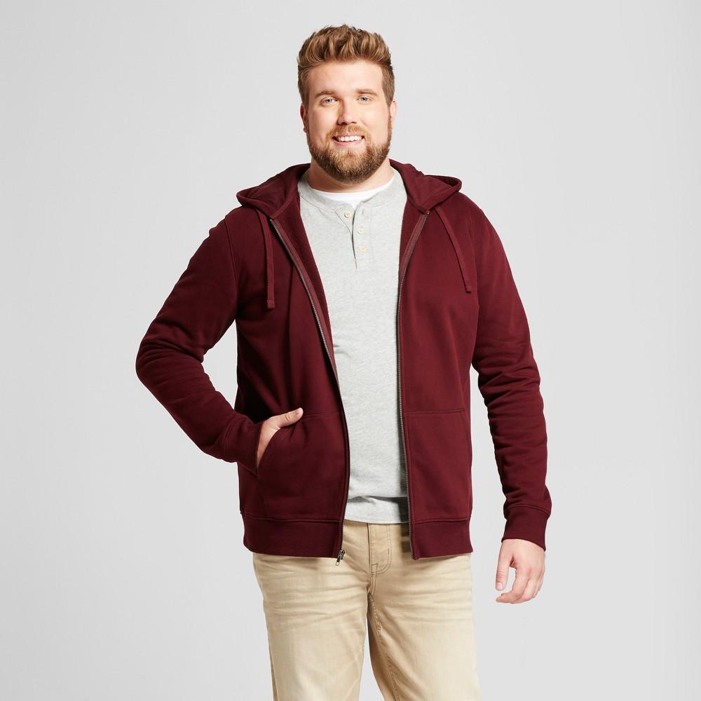 Mens Big & Tall Long Sleeve Hooded Fleece Sweatshirt - Goodfellow & Co Burgundy (Red) 2XBT