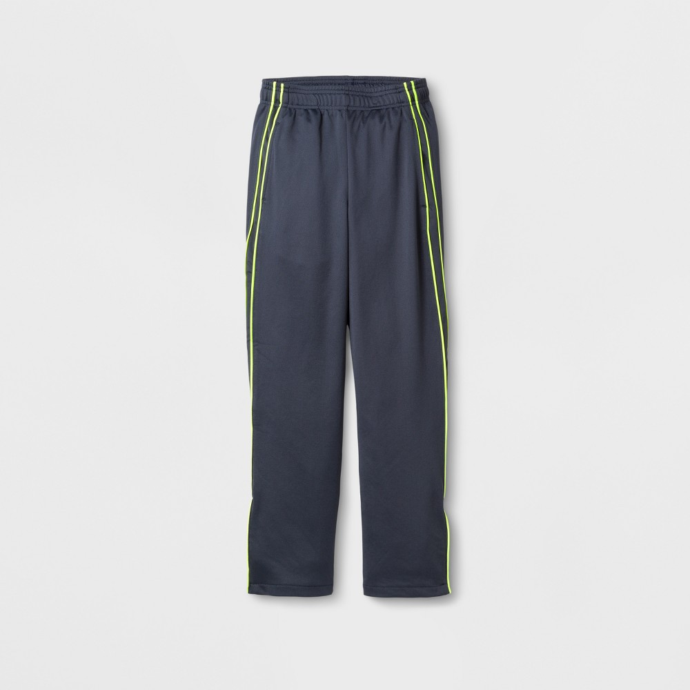 Boys Track Pants - C9 Champion - Stealth Gray/Yellow L, Turbine Gray