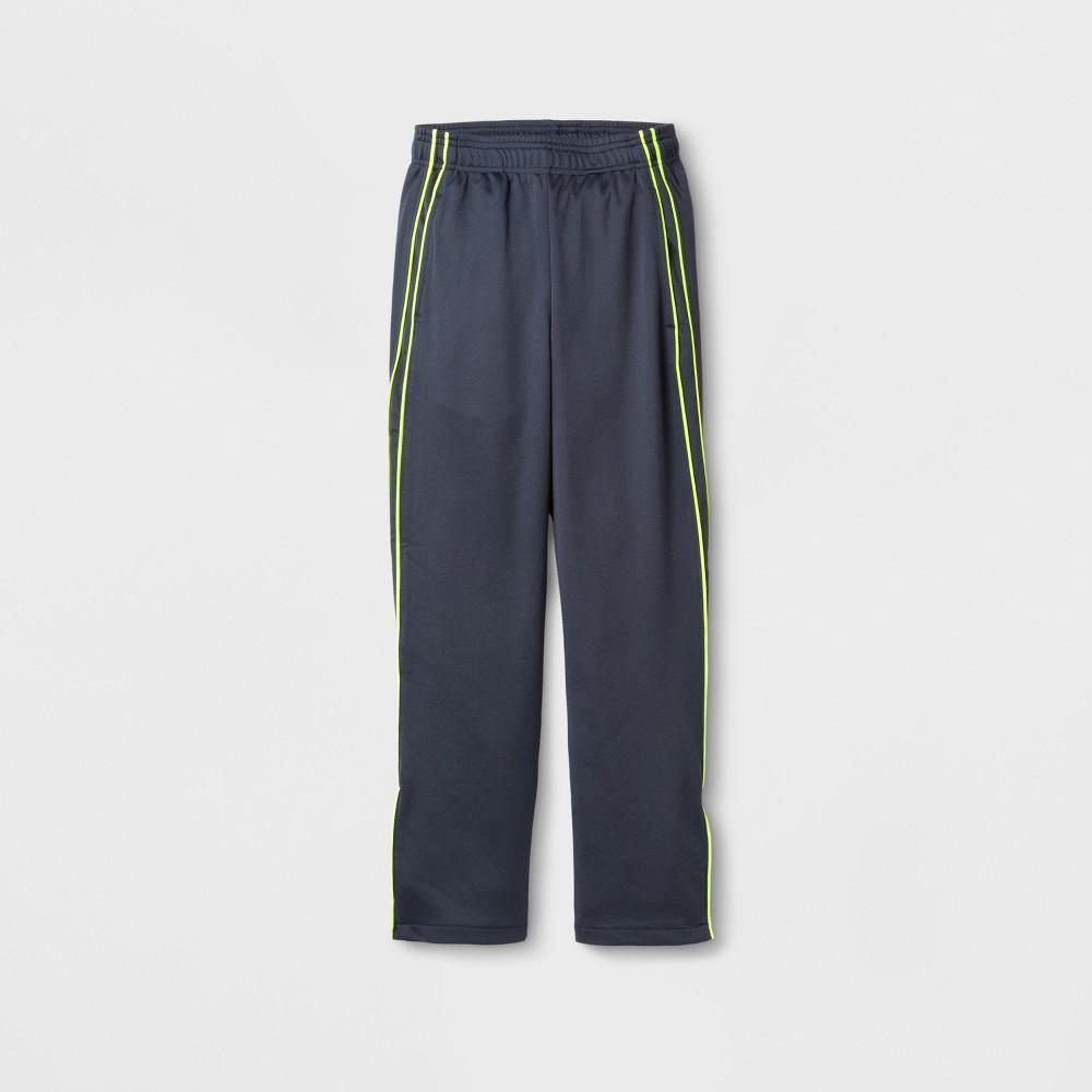 Boys Track Pants - C9 Champion - Stealth Gray/Yellow S, Turbine Gray