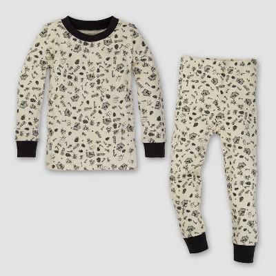 Burt's Bees Baby Toddler Organic Cotton 2pc Cozy Winter Pajama Set - Ivory 2T