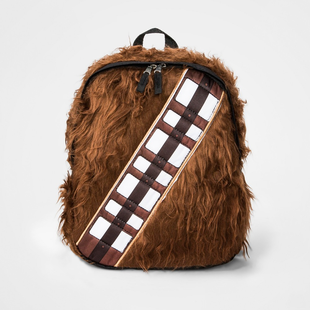 Boys Star Wars Chewbacca Backpack - Brown, Black/Orange