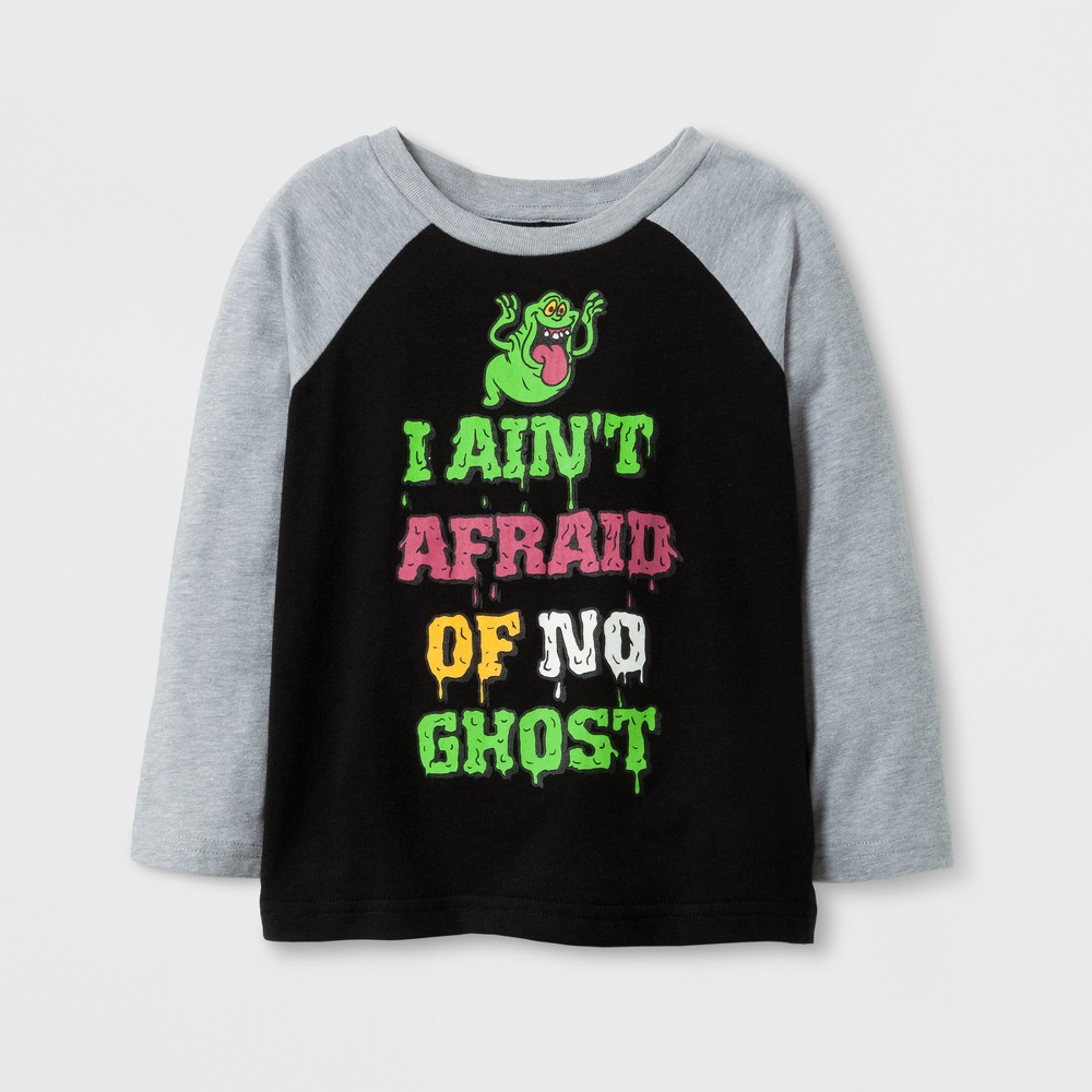 Toddler Boys' Ghostbusters Long Sleeve Halloween T-Shirt - Black 4T
