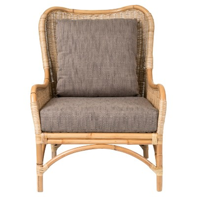 Lyndon Square Rattan Accent Chair   Brown   East At Main