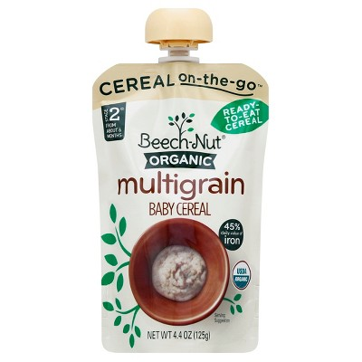Beech-Nut Organic Ready-to-Eat Food Pouch, Multigrain - 4.4oz