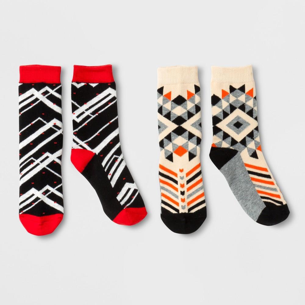 Imn Socks Child Casual Socks Pair of Thieves 2 Pk Red Black Gray M, Kids Unisex, Black Gray Red