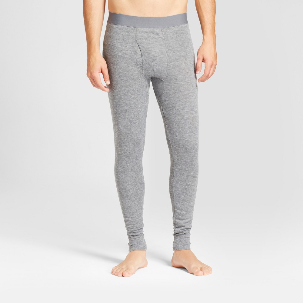 Mens Wool Blend Thermal Pants - Goodfellow & Co Heather Gray L