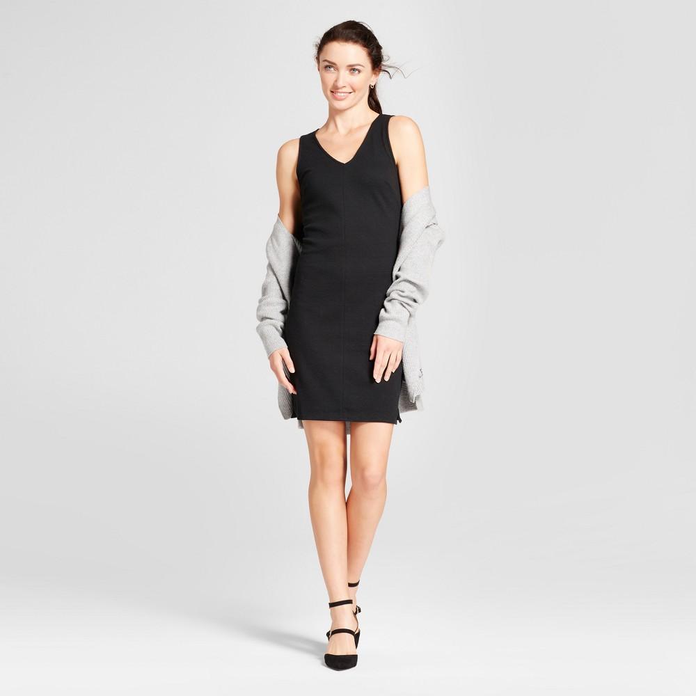 Womens Ponte Shift Dress - A New Day Black L