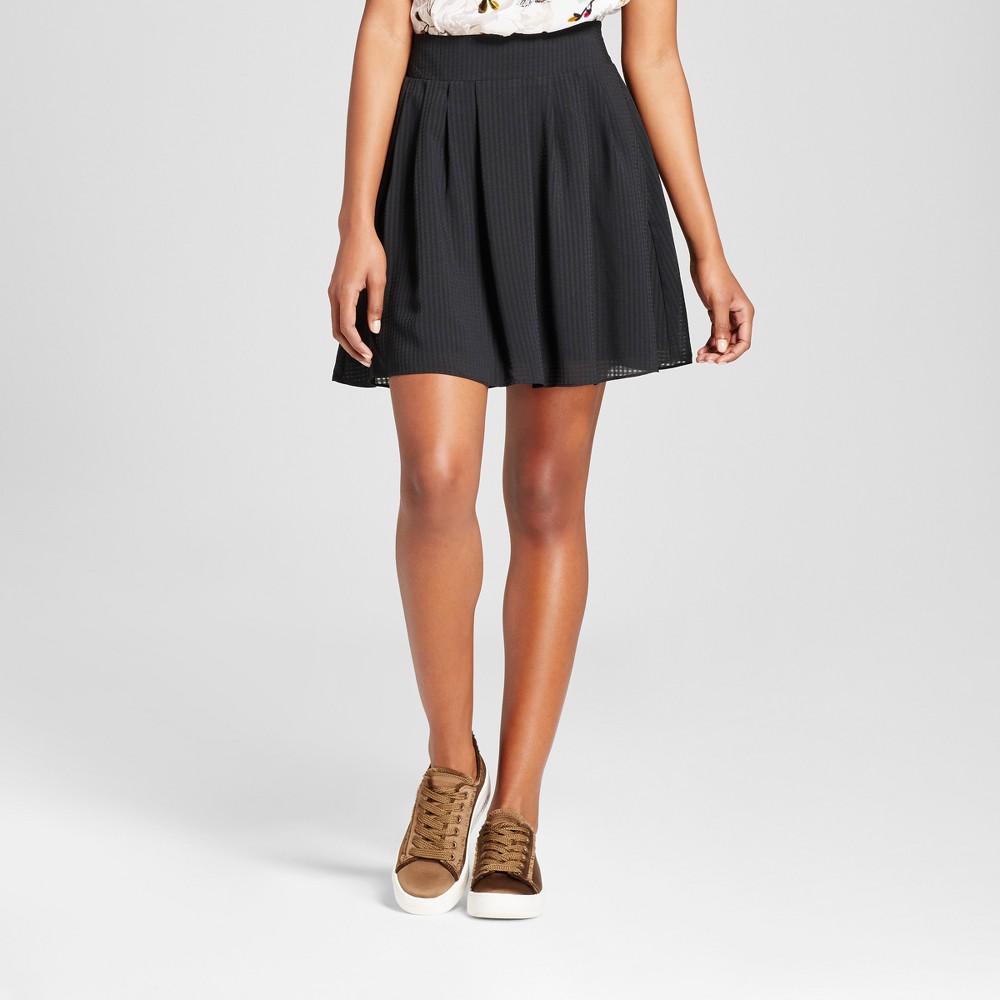 Womens Pleated Skirt - A New Day Black Xxl