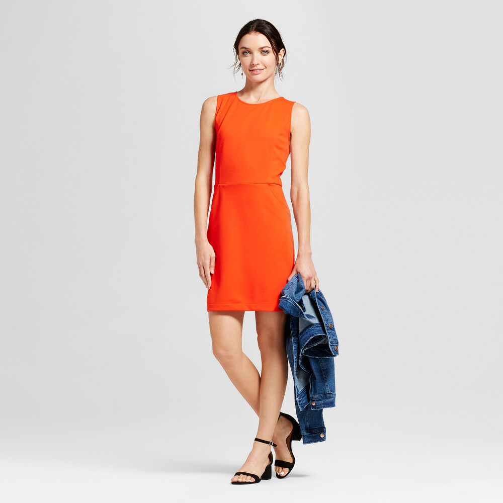 Womens Ponte Sheath Dress - A New Day Tomato (Red) XL