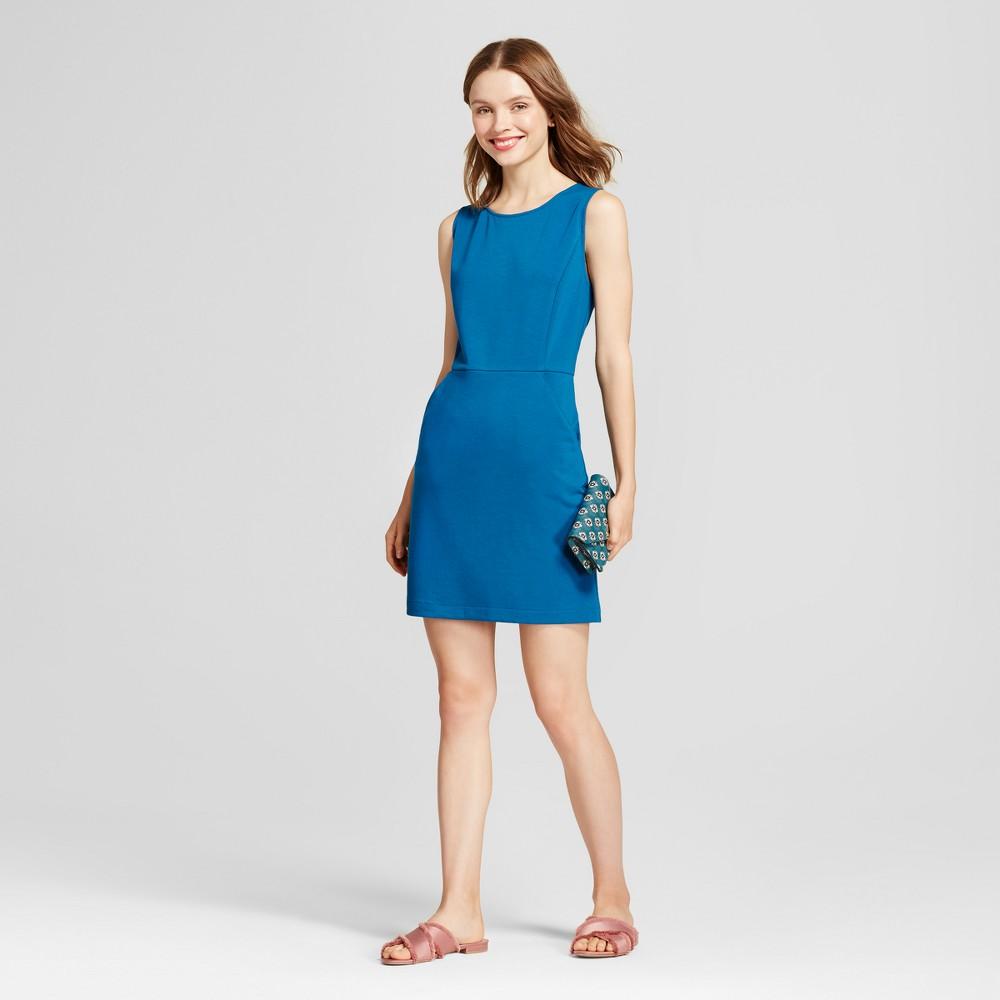 Womens Ponte Sheath Dress - A New Day Teal (Blue) Xxl
