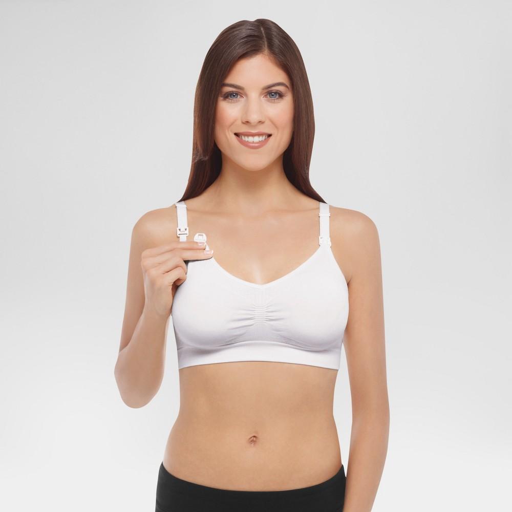 Medela Womens Nursing Seamless Bra - White S
