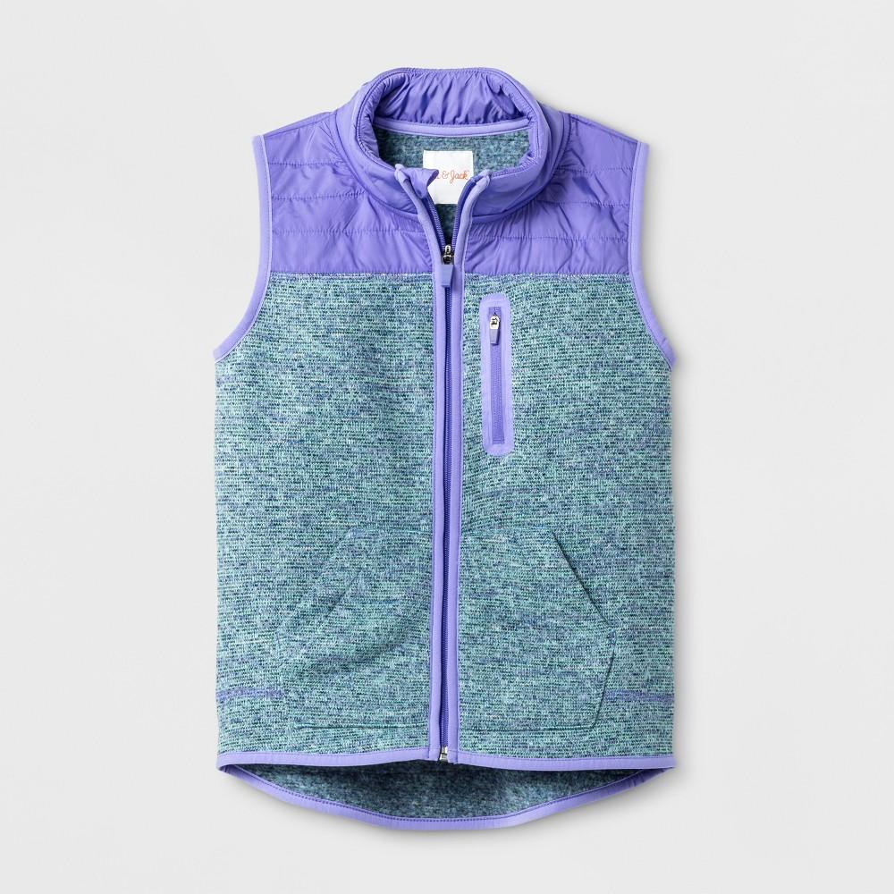 Girls Sleeveless Fleece Vest - Cat & Jack Turquoise/Purple M