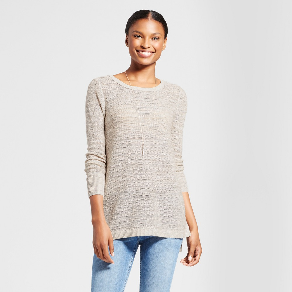 Womens Open Back Lace Up Sweater - Knox Rose Oatmeal L, Beige