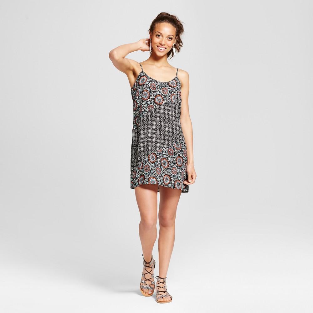 Womens Mixed Print Slip Dress - Xhilaration (Juniors) Red M, Black/White