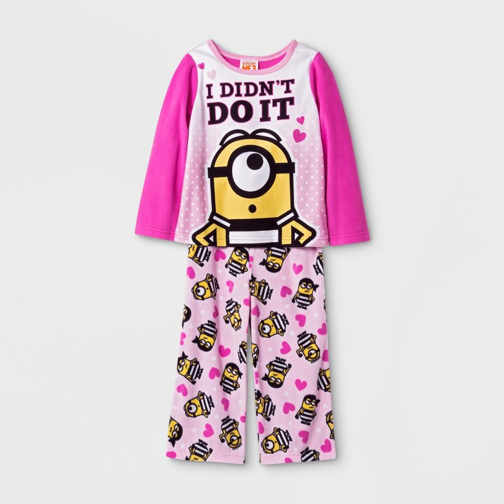 Pajama Set Despicable Me Pink 4T, Toddler Girls