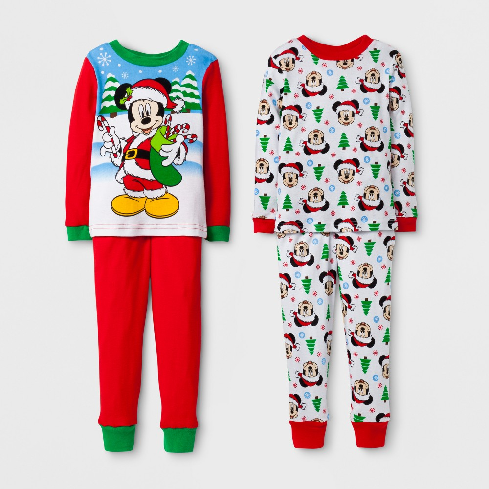 Pajama Set Mickey Mouse Red 2T, Toddler Boys