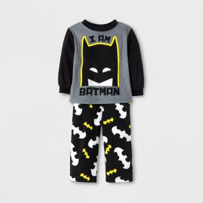 Baby Boys' Batman 2pc Pajama Set - Black 12M