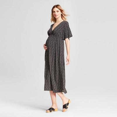 Target black maternity maxi dress