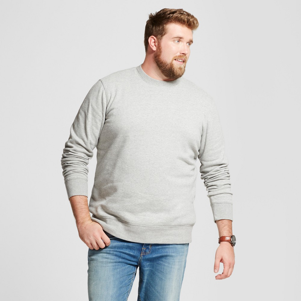 Mens Big & Tall Fleece Crew Neck Sweatshirt - Goodfellow & Co Gray 4XB