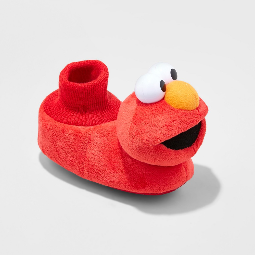 Toddler Boys Sesame Street Elmo Bootie Slippers - Red M (5-6)