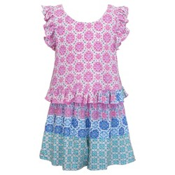Girls' Sara Sara Neon Rompers - Purple