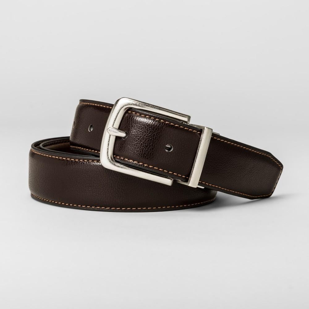 Mens 30mm Reversible Belt - Goodfellow & Co - Brown L
