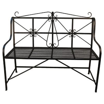 metal outdoor bench Target