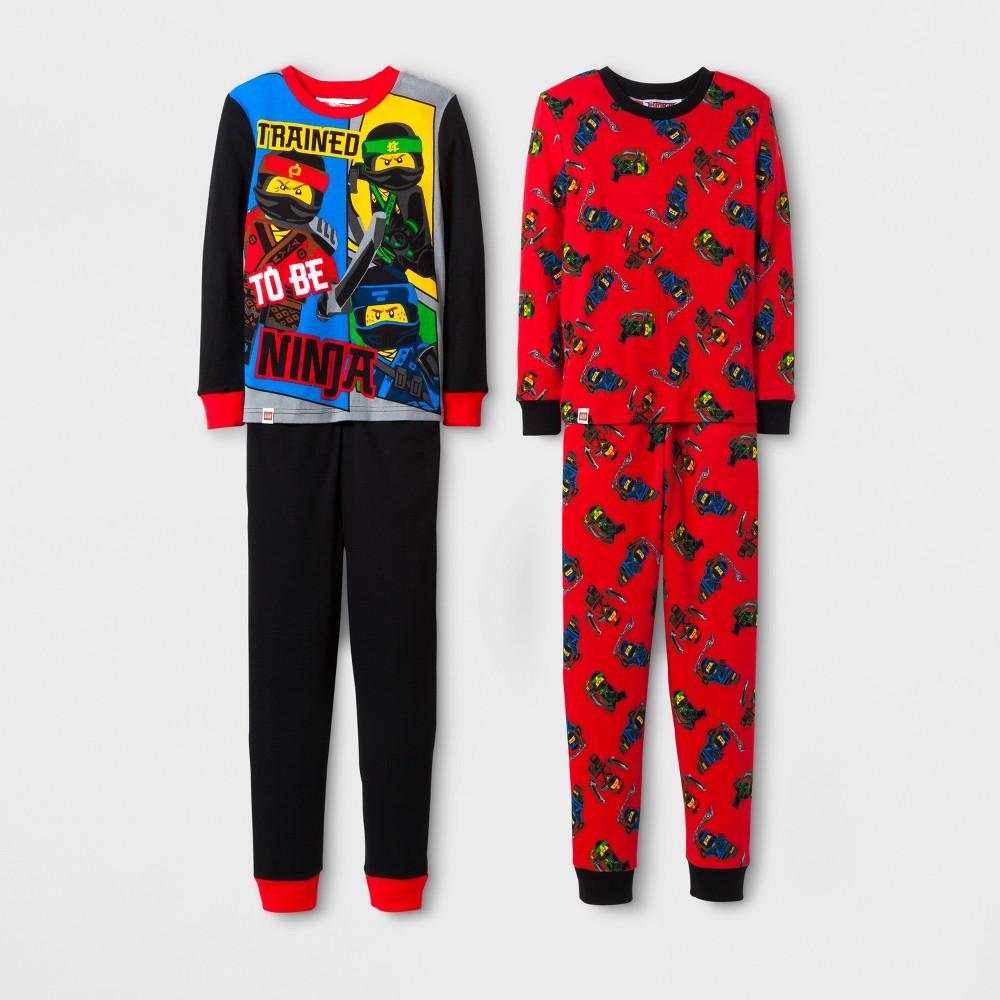 The Lego Ninjago Boys 4pc Cotton Pajama Set - Black/Red 4