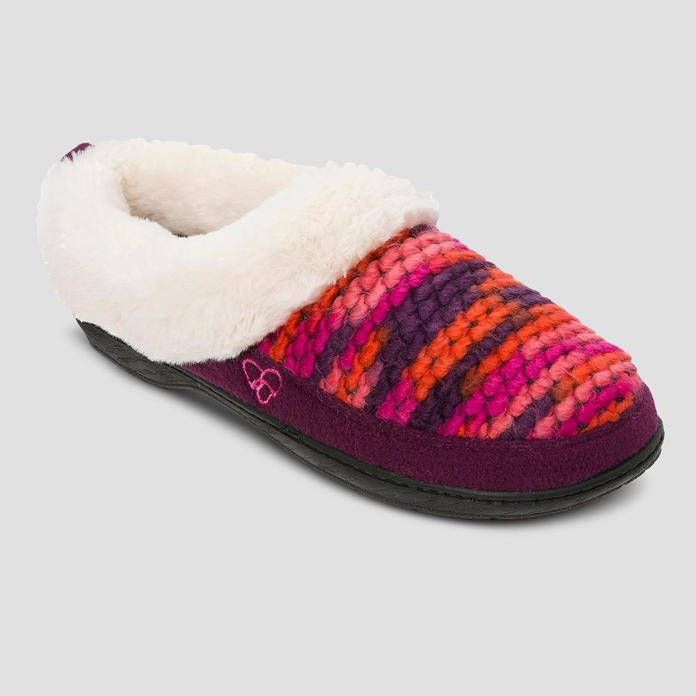 Womens dluxe by dearfoams Rheaven Novelty Yarn Clog Slippers - Aubergine L(9-10), Size: L (9-10)