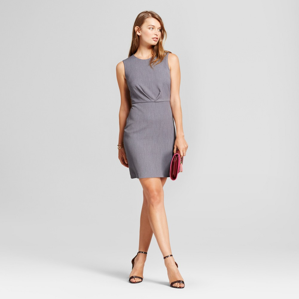 Womens Bi-Stretch Twill Dress - A New Day Light Gray 18