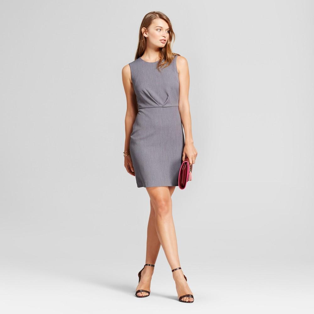 Womens Bi-Stretch Twill Dress - A New Day Light Gray 14