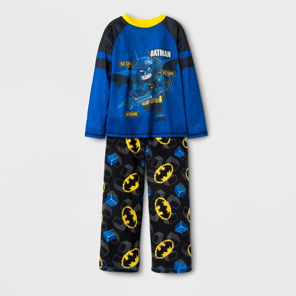 The Lego Batman Movie Boys Spacedye Pajama Set - Blue 4-5