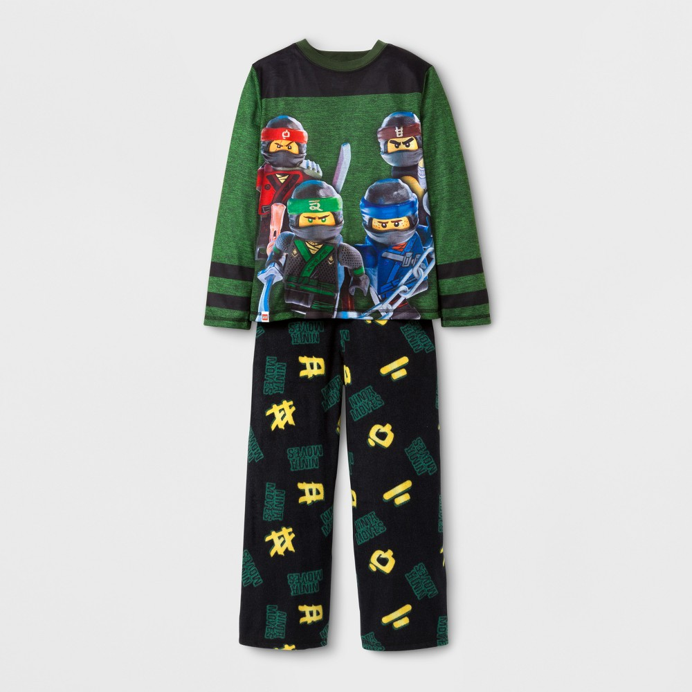 The Lego Ninjago Boys Spacedye Pajama Set - Green 4-5